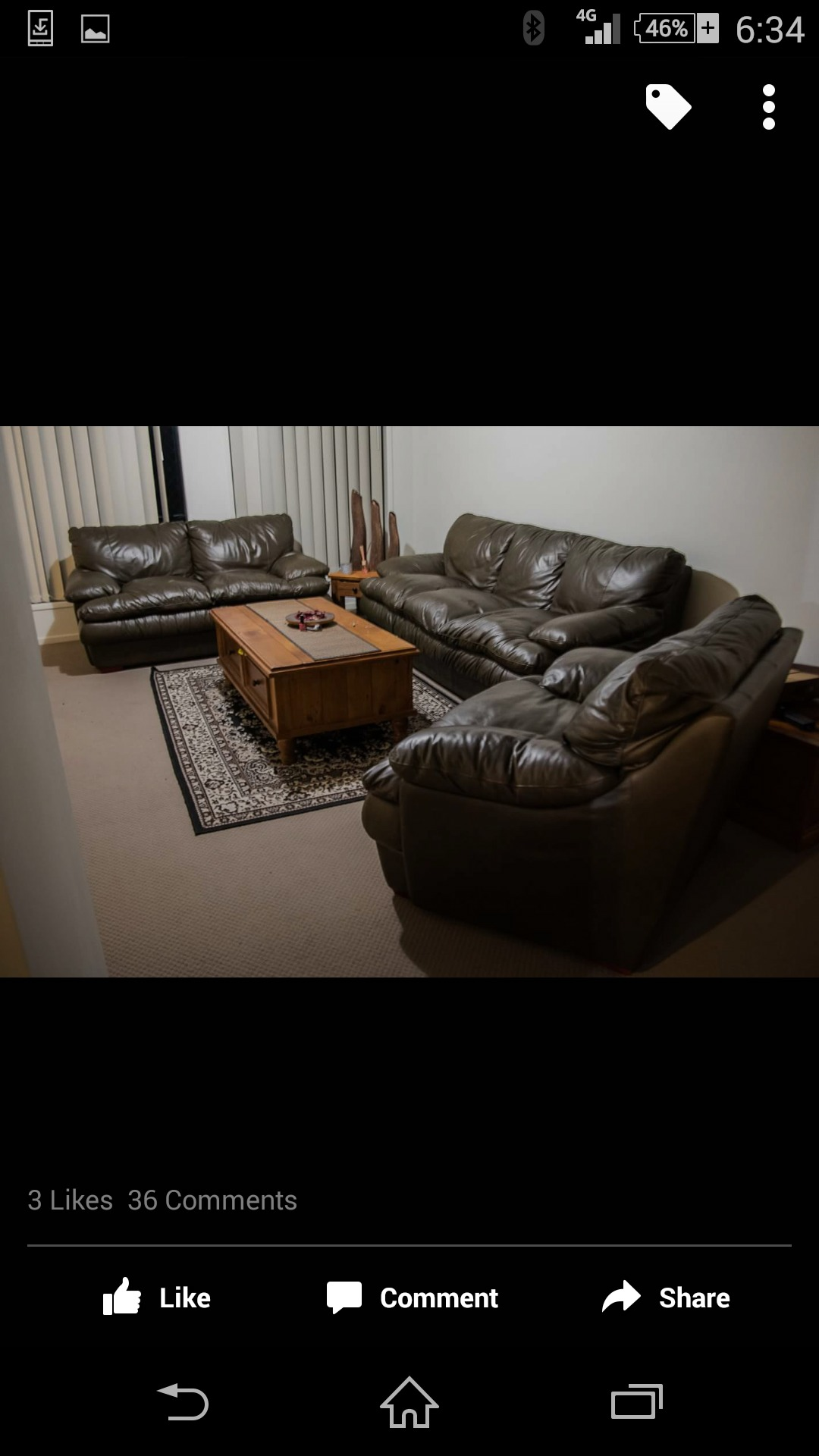 Full Leather lounge for sale the brand Janda, the name is cloud, which describes what it is like to sit in.. Three two and one seater set. Brown colour.. Was $6990 new make an offer
