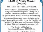 LLOYD, Neville Wayne (Wayne)