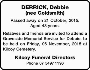 Passed away on 21 October, 2015. Aged 48 years.