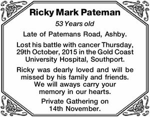 Ricky Mark Pateman