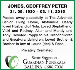 JONES, GEOFFREY PETER