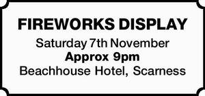 Saturday 7th November   Approx 9pm    Beachhouse Hotel, Scarness