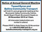 Notice of Annual General Meeting Tweed Byron and Ballina Community Transport