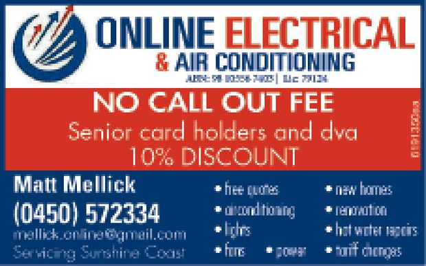 All Domestic & Commercial Work   ABN: 98105567403   NO CALL OUT FEE   Senior card...