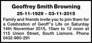 25-11-1929 - 03-11-2015