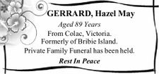 GERRARD, Hazel May