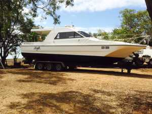 HYDROFIELD 8.8 mts Triaxle trailer, Very Good Condition, Raymarine electronics, full inventory on request. $64,999. More info ph: 0409 621 424