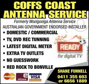 Formerly Woolgoolga Antenna Service