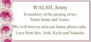 WALSH, Jenny