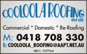 Cooloola Roofing   Commercial &Domestic reroofing   QBCC 1057064