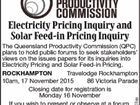 Public Forums Electricity Pricing Inquiry and Solar Feed-in Pricing Inquiry