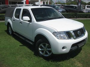 2014 Nissan Navara D40 MY12 Upgrade ST (4x4) White 6 Speed Manual