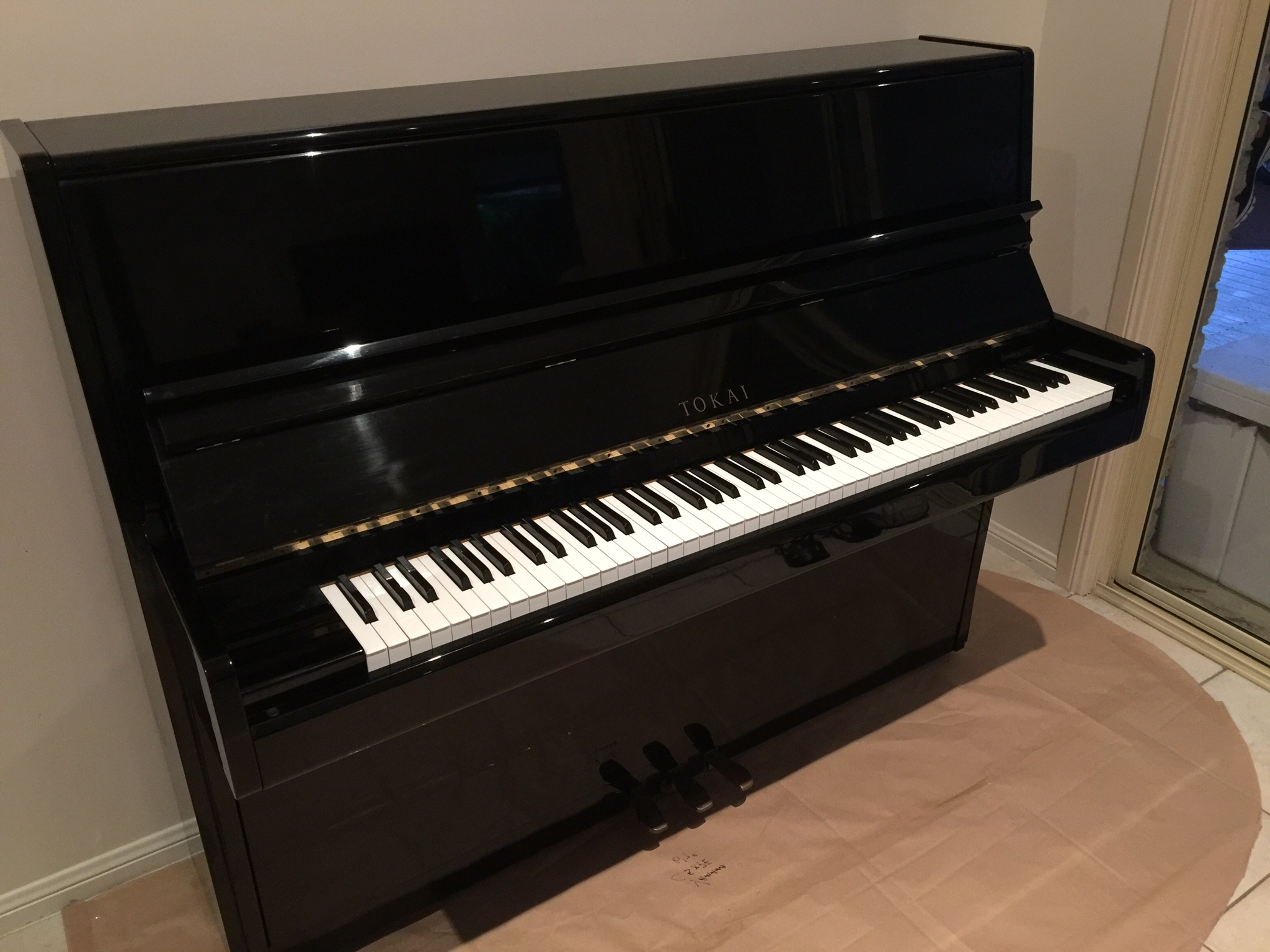 Tokai MU1 Upright Black Ebony Piano;  Recently fully reconditioned. Perfect for any age or standard.