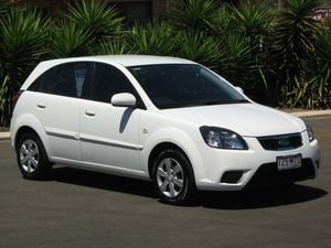 2009 Kia Rio JB MY10 S White 4 Speed Automatic Hatchback