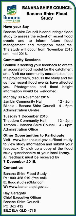 Banana Shire Flood Study