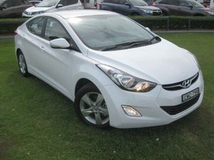 2012 Hyundai Elantra MD2 Elite White 6 Speed Automatic Sedan