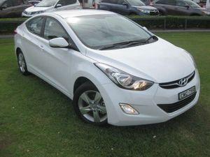 2012 Hyundai Elantra MD2 Elite White 6 Speed Automatic Sedan