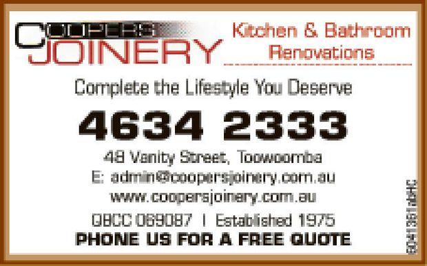 New bathrooms and renovations KITCHEN & BATHROOM RENOVATIONS 4634 2333 48 Vanity Street...