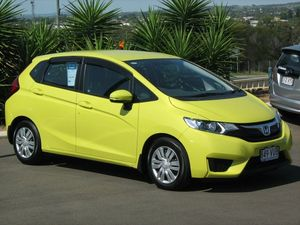 2014 Honda Jazz GK MY15 VTi Yellow 5 Speed Continuous Variable Hatchback