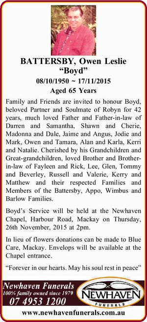 08/10/1950 ~ 17/11/2015