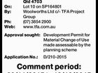 Proposed development Have your say