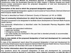 Notice of proposed Ministerial designation of land for community infrastructure under the Sustainable Planning Act 2009