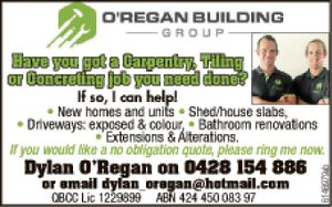 Have you got a Carpentry Tiling or Concreting job you need done ?   If so we can help   New homes and units, sheds, slabs, driveways, exposed or colour, bathroom renos, Extensions or alterations   No Obligation quote