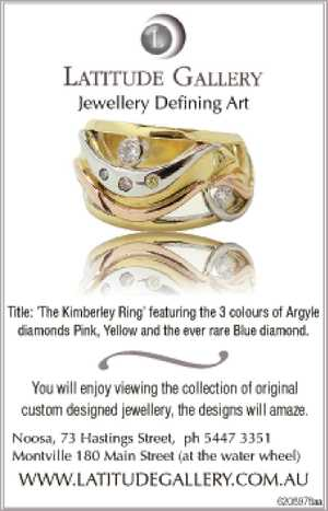 Title: 'The Kimberley Ring' featuring the 3 colours of Argyle