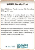 Late of Killarney. Passed away on 20th November, 2015, aged 63 years. Beloved Husband of Lorraine. Dearly loved Father and Father-in-law of Mark and Lizette; Katrina and Rodney; Joanne. Loving Grandfather of Nathaniel and Charissa; Samantha, David and Elizabeth; Jason and Charlene, and loved Great Grandfather. Loved Brother and Brother-in-law ...
