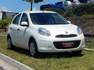2014 Nissan Micra K13 MY13 ST White 5 Speed Manual Hatchback