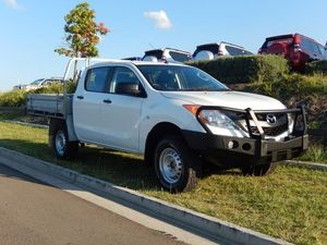 2011 Mazda BT-50 UP0YF1 XT White 6 Speed Manual Cab Chassis