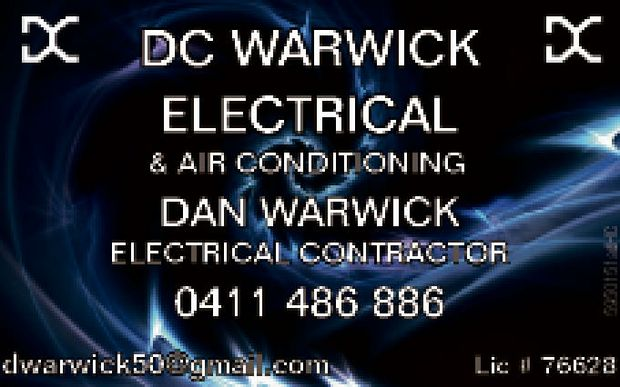 For all your electrical needs   Dan Warwick Electrical Contractor   LIC # 76628   Ph:...