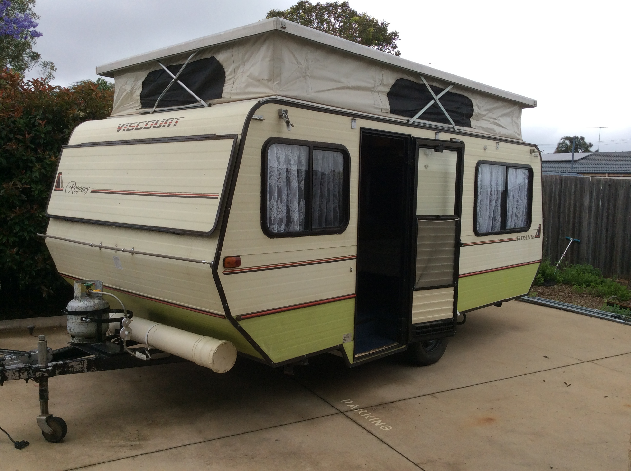 Viscount Ultralite Pop Top Caravan.