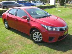 2015 Toyota Corolla ZRE172R Ascent Red 7 Speed CVT Auto Sequential Sedan