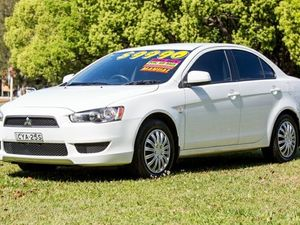 2007 Mitsubishi Lancer CH MY07 ES White 5 Speed Manual Sedan