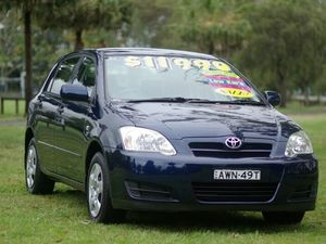 2005 Toyota Corolla ZZE122R 5Y Ascent Dark Blue 4 Speed Automatic Hatchback