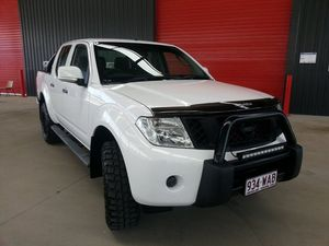 2014 Nissan Navara D40 S7 ST Polar White 6 Speed Manual Utility