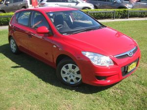 2009 Hyundai i30 FD MY10 SX Red 4 Speed Automatic Hatchback
