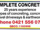 COMPLETE CONCRETING