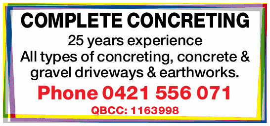 25 years experience   All types of concreting, concrete & gravel driveways & earthwor...