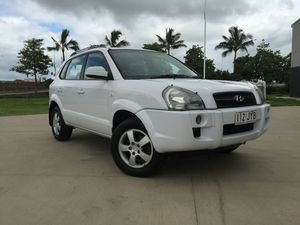 2006 Hyundai Tucson City White 4 Speed Sports Automatic Wagon