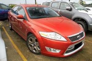 A rare Find!  2007 Ford Mondeo XR5 with just over 44,000 genuine kilometers!   This one owner XR5 has been kept in great condition and looks brilliant in Tango with Factory Alloy Wheels.  This vehicle is loads of fun to drive and comes well equipped with Rear Park Sensors, Heated ...