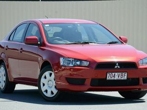 2010 Mitsubishi Lancer CJ MY11 ES Sportback Red 6 Speed Constant Variable Hatchback