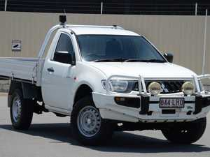2008 Mitsubishi Triton ML MY09 GLX White 5 Speed Manual Cab Chassis