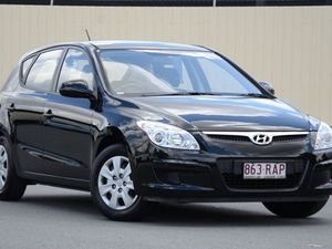 2010 Hyundai i30 FD MY11 SX Black 5 Speed Manual Hatchback