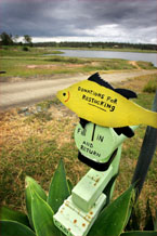 The Bill Gunn Dam, Lake Dyer, has 1% usable storage water available.  Photo: Michael Holman