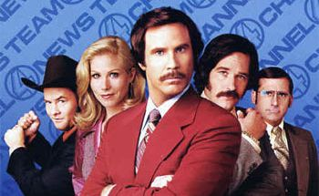 Anchorman: The Legend of Ron Burgundy came second in the list of funniest comedies of all time in Empire magazine.