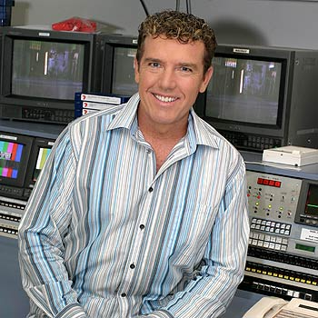 Newsreader Rob Brough has two great passions outside of work: family and football.