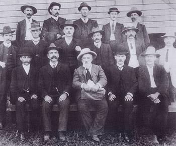 The original Noosa Shire Council and press representatives, May 11, 1910.