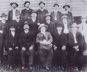 The original Noosa Shire Council and press representatives, May 11, 1910.